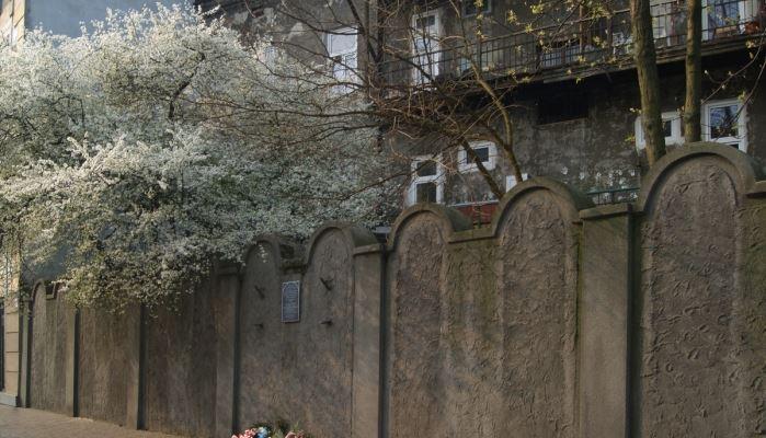 Krakow and Auschwitz Tour Krakow Ghetto Wall