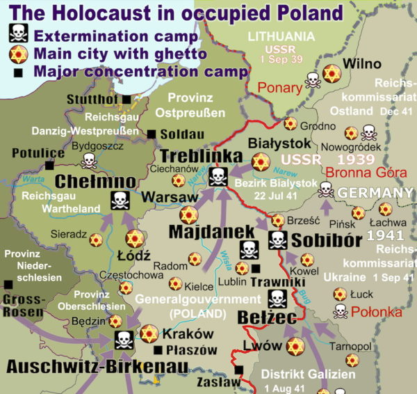4 Day Trip From Warsaw: Death Camps in Poland WW2 Holocaust Poland 600x566